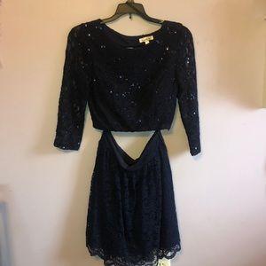 Navy blue hoco dress